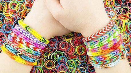 Loom bands - vytvoř si svůj náramek!! Sada gumiček!! 600 kusů!!