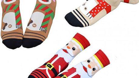 Vánoční ponožky s obrázkem!