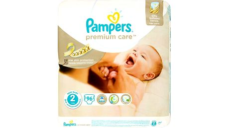 Pampers Premium Care, 3-6 kg, vel. 2 96 ks
