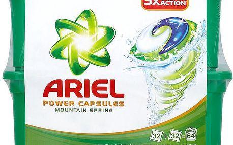 Ariel Power capsules mountain spring gelové kapsle 64 praní 64 x 28,8 g