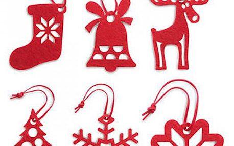 Vánoční dekorace Rouge 6 ks!