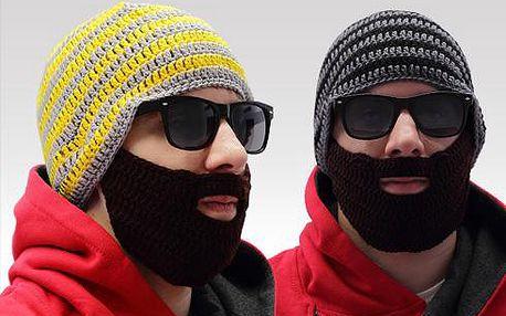 Beard hat, čepice s vousy!! odepínatelný knír!! párty čepice!!