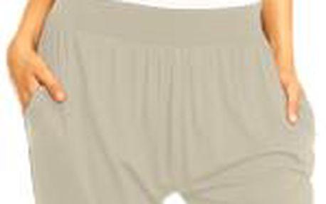 Dámské kalhoty aladinky Megan – béžové L/XL