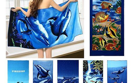 Osuška 70x150cm s mořskými motivy