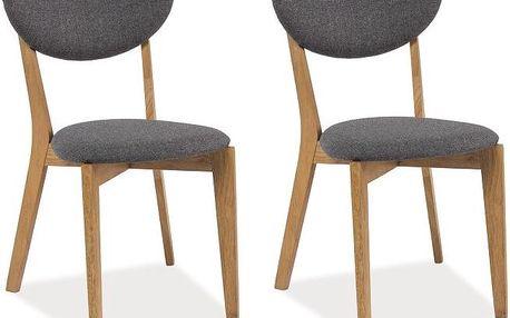 Sada 2 jídelních židlí Andre Grey - doprava zdarma!