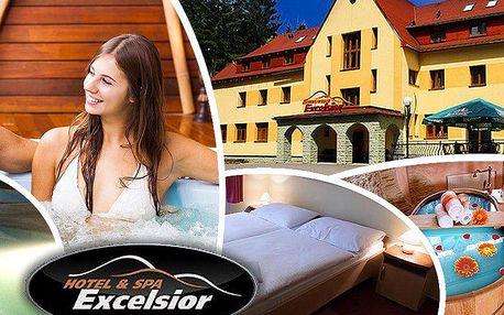 Wellness pobyt pro dva v Horském hotelu Excelsior***. Bazén, sauna, vířivka nebo pivní lázeň!