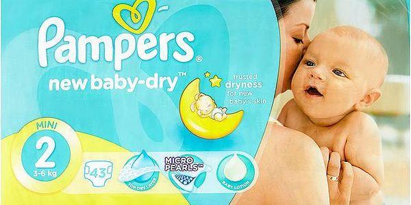 Pampers New Baby-Dry Dětské jednorázové pleny 2 mini 43 ks