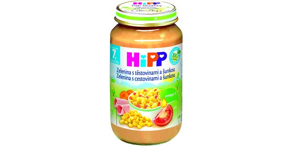 HiPP BIO Zelenina s těstovinami a šunkou 6x220g