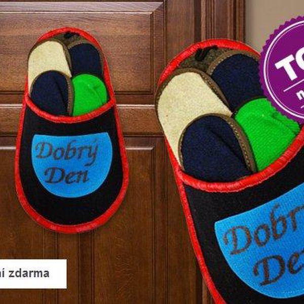 Papuče pro hosty – 4 páry v jednom