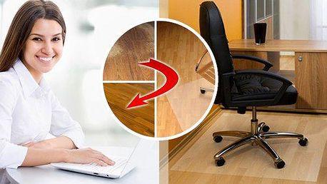 Ochranná podložka pod židli - chrání podlahu před opotřebením a poškrábáním! Životnost Vaší podlahy se několikanásobně zvýší! Vyrobeno z vysoce kvalitního PVC. Možno použít na jakoukoliv podlahu! Protiskluzová vrstva poskytuje vysokou bezpečnost.