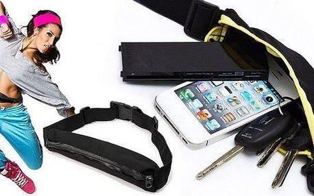 Sportovní opasek s pouzdrem na mobil, klíče…