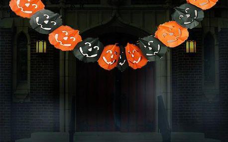 Papírová girlanda z dýní Halloween!