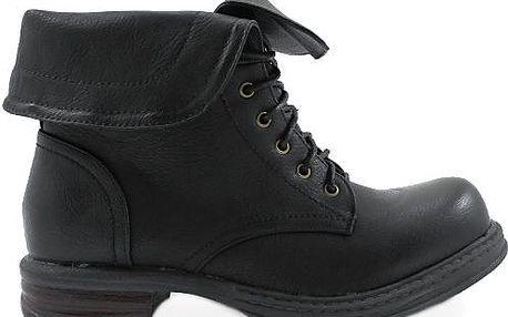 COLORFUL Černé kotníkové boty LT7009B Velikost: 37