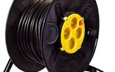 Ecolite Prodlužovací kabel na bubnu 25m 4 zásuvky 3x1,5mm, 4 zásuvky