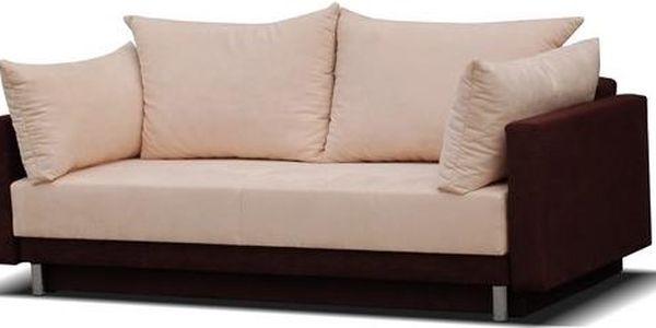 Čalouněný gauč BIANKO brown / crem