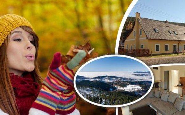 Jeseníky na 3 dny pro 2 nebo 4 osoby v krásných nově vybudovaných apartmánech Ostružná. Užijte si dovolenou v luxusně vybavených apartmánech, které Vám poskytnou pohodlí v jednom z nejnavštěvovanějších turistických středisek.
