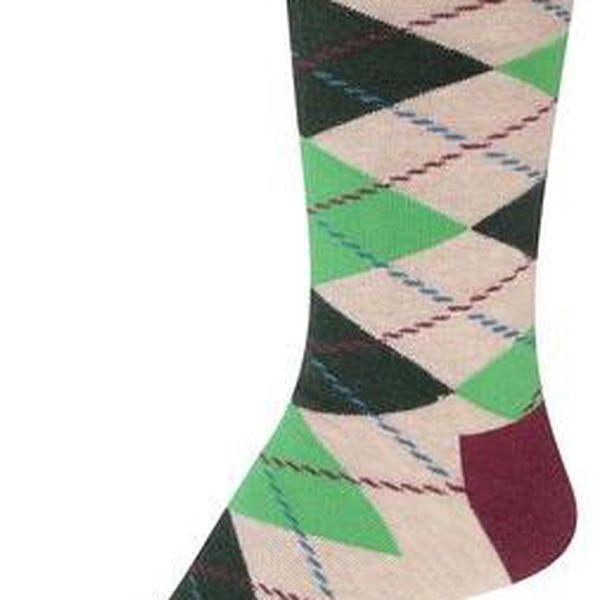 Barevné pánské kárované ponožky Happy Socks Argyle