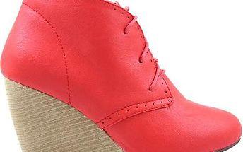 BLESS Kotníčkové boty na klínku 6543R 40