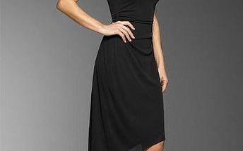 Moderní asymetricky střižené šaty - velikost S