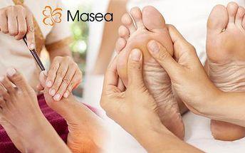 Až 45min. léčebná Thajská masáž chodidel profesionálním masérem s certifikací přímo z Bangkoku + bylinková lázeň!