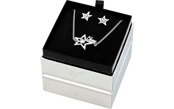Guess set dámských šperků - náušnice s řetízkem UBS81303