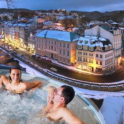 Zimní lázeňský pobyt pro 2 osoby v centru Karlových Varů se vstupem do vyhlášených Alžbětiných lázní