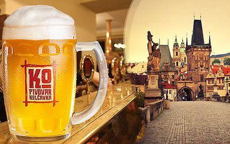 Zážitkový pobyt v délce 2 nebo 3 dnů s prohlídkou a ochutnávkou piv v minipivovaru Kolčava v Praze