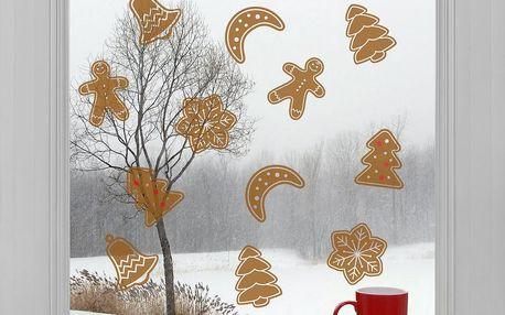Elektrostatické vánoční samolepky Cukroví