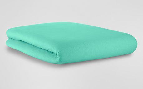 Tchibo, Žerzejové napínací prostěradlo, azurové, na matrace o rozměrech 90 x 190 až 100 x 200 cm