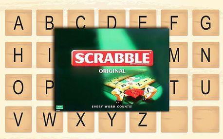 Originální anglická verze zábavné hry Scrabble na procvičení myšlení a paměti