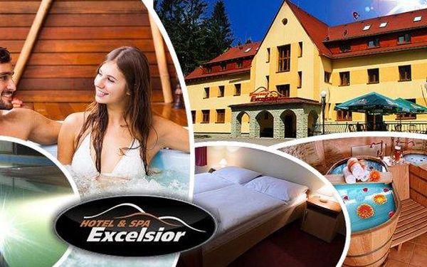 Beskydy - ubytování v týdnu na 3 až 5 dní pro 2 osoby v Horskémhotelu Excelsior***! Snídaně formou švédských stolů, večeře výběrem z hotelového menu, neomezené wellness - vyhřívaný bazén, sauna, vířivka, pivní nebo vinná lázeň a další!