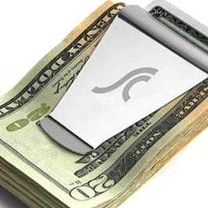 Praktická spona na peníze a kreditní karty!! Leštěný kov!!