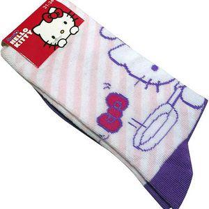 Dětské ponožky Hello Kitty - růžová/bílá