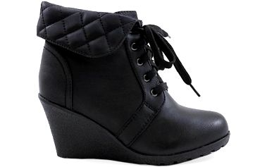 Černé kotníkové boty B8671B Velikost: 38