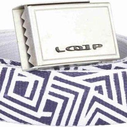 Pásek Loap Rubini br.white/purple - bílá/fialová