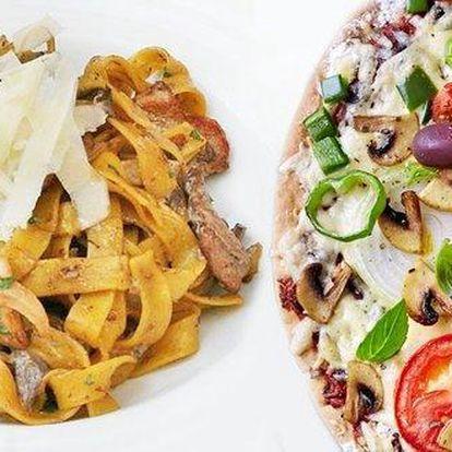 Pizza či těstoviny pro dva v restauraci La Scala