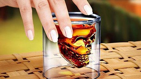 Panák ve tvaru lebky!! Stylová sklenička nejen na alkohol!!