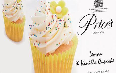 LIMITOVANÁ EDICE vonná svíčka ve skle Muffiny vanilka & citron 350g