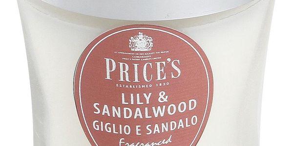 SIGNATURE vonná svíčka ve skle Lilie&santálové dřevo střední 425g