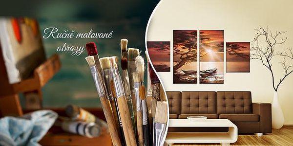 4 nebo 5dílný obraz na plátně, ručně malovaný akrylovými a olejovými barvami! 6 motivů!