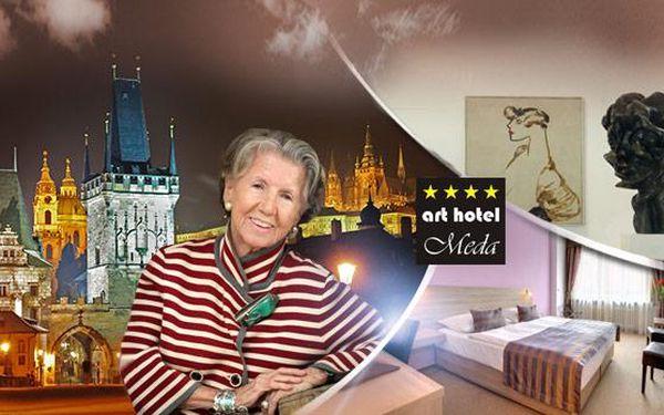 Praha, 4* arthotel Meda pro 2 osoby na 2 až 6 dní. Snídaně, 3chod. menu a vstup do musea Kampa zdarma. Dnes končí!