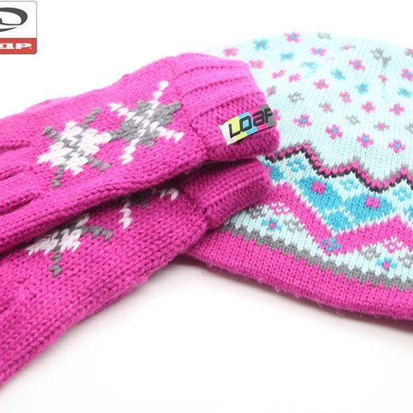 Dětská čepice + rukavice, set Loap