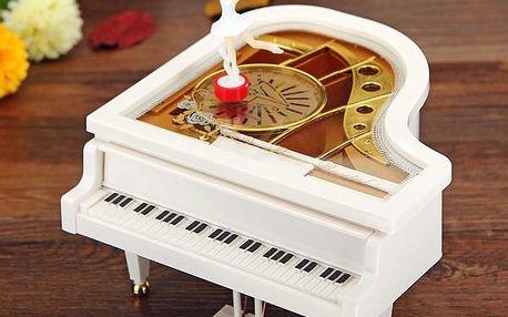 Hrací skříňka s baletkou - piano