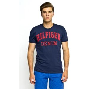 Hilfiger Denim - T-shirt Federer - tmavomodrá, L