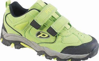 Peddy Chlapecké outdoorové boty na suchý zip, zelené