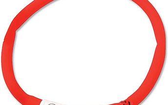 Dog Fantasy LED svítící obojek 45 cm červený