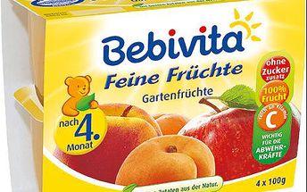 Expirace 18.3.2016: BEBIVITA Jemná ovocná směs, 4x100 g