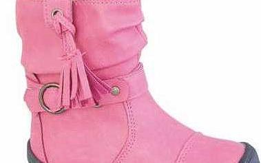 Peddy Dívčí kozačky, růžové
