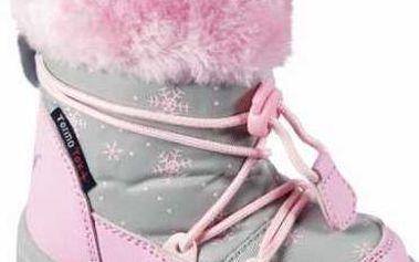 Peddy Dívčí sněhule se šněrováním, růžové