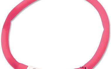 Dog Fantasy LED svítící obojek 45 cm růžový